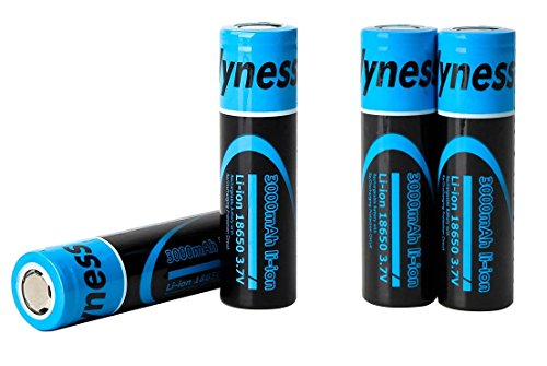 18650 3.7V 3000mAh Flat Top Lithium Rechargeable Batteries Fast Li-ion Battery ,4 PACK