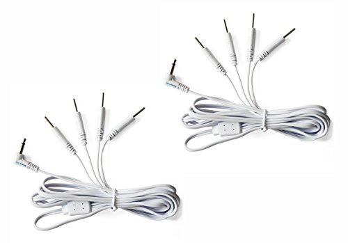 Tens Lead Wires, Port Doubler, 4 2mm Pin Connectors (2 Pack), Discount Tens Brand ()
