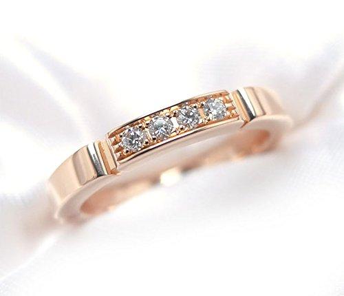 カルティエ マイヨン 4Pダイヤ パンテールリング 表記サイズ:48 K18PG(750) ピンクゴールド 指輪 [中古] B074CH3S25