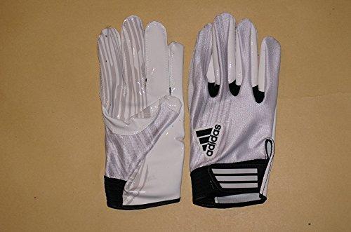 Adidas Adizeroメンズ受信機フットボールグローブ – ホワイト/グレー – 3 x l B00ZVX1UX2