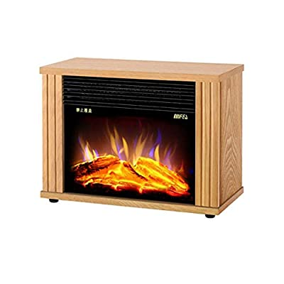 Air Conditioners CJC 1800W Freestanding Fires Fireplace Portable Stove Real Flame Effect Living Room Bedroom