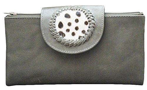 11sunshop Adhira - Cartera de mano para mujer gris gris claro
