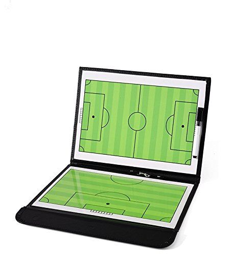 ZXJOY Football Coach Tactical Board Coaching Magnetic Strategy Clipboard Zipper Bag With Writing Wipe Two-in-one Pen