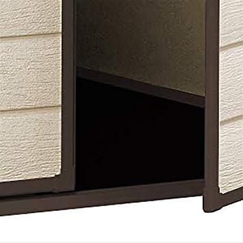 Keter Manor - Caseta de almacenaje para jardín o Exterior, de Resina, 15, 2 x 12, 7 cm, Color Beige, plástico, Beige, 6 x 5 Feet: Amazon.es: Jardín