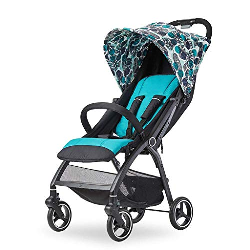 LLYU Pushchairs -Children's Cart 0-3 Years Old Folding Cart Awning Cart Silent Shock Cart Pushchair Toys (Size : 79 43 104cm) (Color : A) ()
