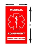 Medical Equipment Luggage Sticker Height 3 inches x