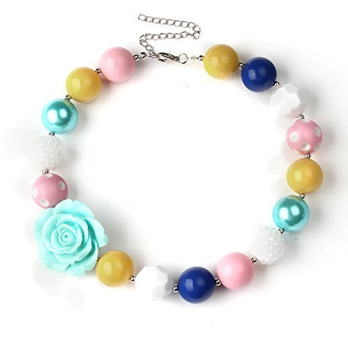 Bouren Baby Chunky Bubblegum Bead Necklace for Girls