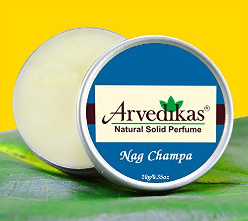 Arvedikas Nag Champa Natural Solid Perfume Beeswax/Mini Jar/Floral Fragrance/Nag Champa Perfume/Pocket Size Compact Cologne/Scented Balm/Skin Friendly/Alcohol Free / (10gm each - 0.35oz) - Blossom Cherry Perfume Solid