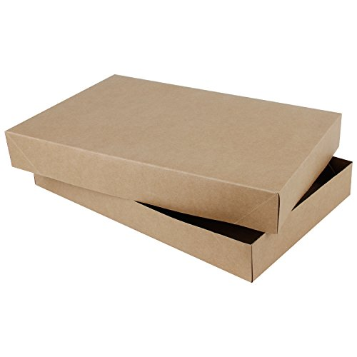 RUSPEPA Coat Cardboard Gift Boxes - Large Gift Boxes with Lids for Apparel - 19''x 12''x 4'' - 5 Full Pack - Kraft by RUSPEPA