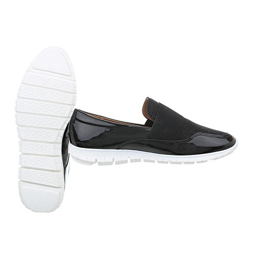 Flat Trainers Women's Sneakers Black Low J12a Ital Design qPzTZT