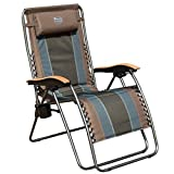 Canopy Wood Folding Chair Timber Ridge Zero Gravity Locking Patio Outdoor Lounger Chair Oversize XL Padded Adjustable Recliner with Headrest Support 350lbs