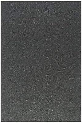 Granito Piastrelle Nero Assoluto Satinato Modello Piatto 30