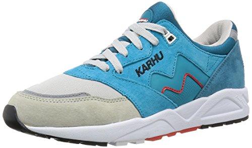 Karhu Chaussures Pack Aria Vappu Vrais Hommes Baskets Sneakers En Cuir F803009 Bleu Jaune