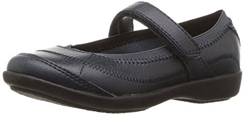 Hush Puppies Reese Mary Jane (Toddler/Little Kid/Big Kid), Navy, 5 W US Big Kid (Kids Sandals Puppies Hush)
