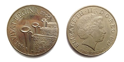 Queen Elizabeth 80th Birthday - Stampbank 2006 GB £5 Five Pounds Coin Queen Elizabeth II 80th Birthday Crown