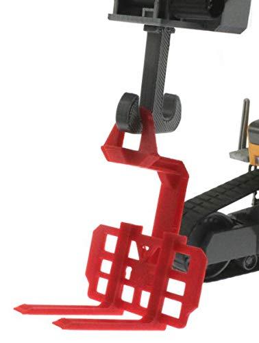 Einh/änge-Palettengabel f/ür Siku Control 32 Liebherr Bagger 6740 mit Verladehaken