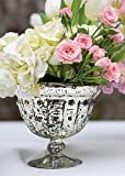 Baleri Mercury Glass Vase Compote Bowl in Silver Gold6