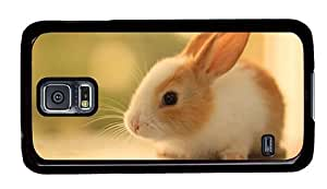 Hipster Samsung Galaxy S5 Case grove covers cute rabbit hd PC Black for Samsung S5