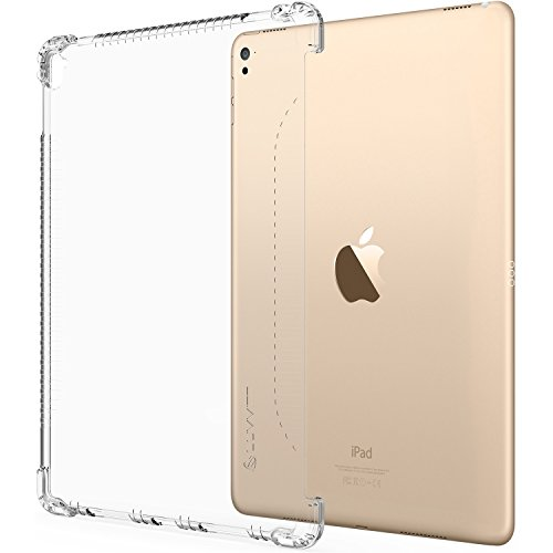 iPad 9.7 Case, LUVVITT Clear Grip Smart Cover and Keyboard Compatible Case for Apple iPad 9.7 inch 5th and 6th Generation (2017-2018) - Clear (Not Compatible with ()