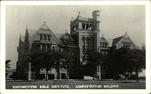 Southewstern Bible Institute, Administration Building Architecture Original Vintage Postcard from CardCow Vintage Postcards