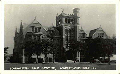 Southewstern Bible Institute, Administration Building Architecture Original Vintage Postcard