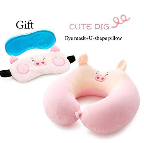 Cartoon Animal U Shaped Travel Neck Pillow Memory Foam Pillows Travel Pillow As picture3 28x28x10cm by U-shaped pillow