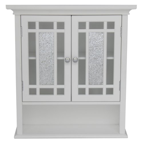 Elegant Home Fashions ELG-527 Whitney Wall Cabinet with 2 Doors and 1 Shelf
