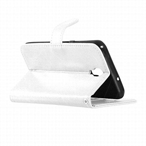 Yiizy LG X screen K500N Funda, Bastidor Diseño Solapa Flip Billetera Carcasa Tapa Estuches Premium PU Cuero Cover Cáscara Bumper Protector Slim Piel Shell Case Stand Ranura para Tarjetas Estilo (Blanc