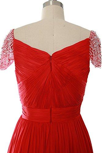 MACloth Women Cap Sleeve Short Ball Gown Evening Formal Prom Dress Wedding Party Teal
