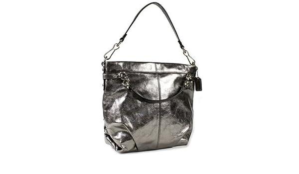 3d8e0c1591fb9 Coach Leather Brooke Shoulder Bag Purse 17165 Pewter  Handbags  Amazon.com