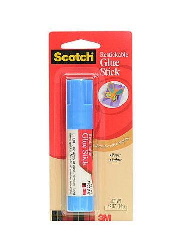 (3M Scotch Glue Stick Restickable Adhesive 0.40 oz. [PACK OF 12)