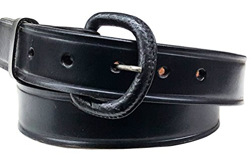 Modestone Unisex Embossed Leather Belt 1'' Width 1/8