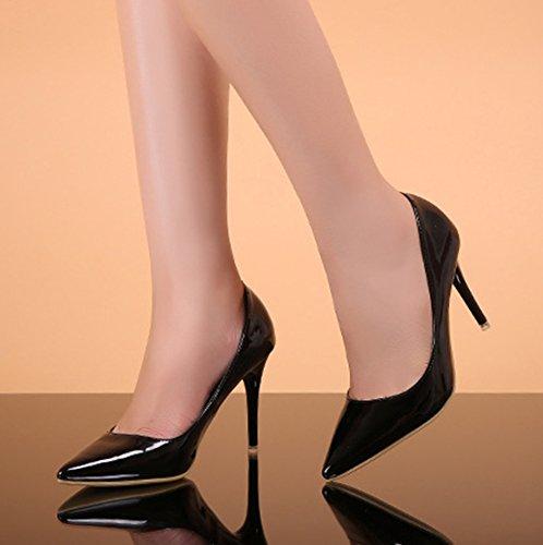 Aisun Noir Mariage Chaussures Escarpins Cheville Femme Pour Classique Ax4qPARO