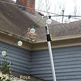 DOCAZOO DocaPole 7-30 Foot Pole Hook Extension Pole   Boat Hook Pole   Telescopic Pole Hook for Hanging Lights   Retrieval Hook   Pool Hook   Clothing Hook Pole   Telescoping Hook   Big-Reach