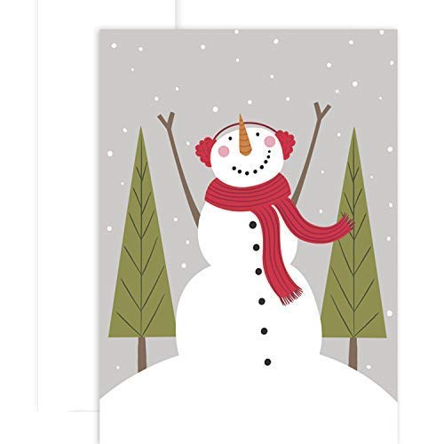 Masterpiece Studios Holiday Collection 12 Cards / 12 Envelopes, Cozy Snowman ()