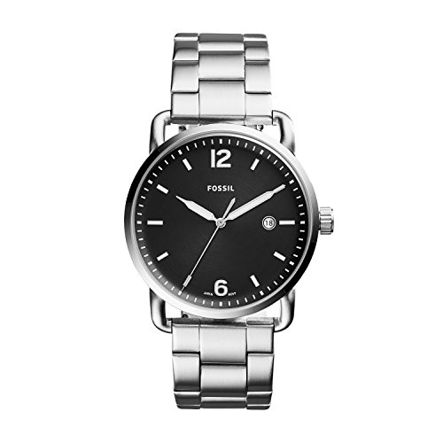 Fossil Men's 'The Commuter' Quartz Stainless Steel Casual Watch, Color:Silver-Toned (Model: FS5391) by Fossil