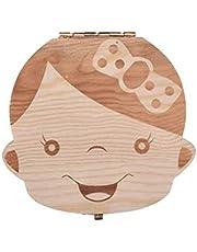 Wooden Kid Tooth Storage Box Wooden Kid Collection Box Tooth Storage Box Wood Color Girl