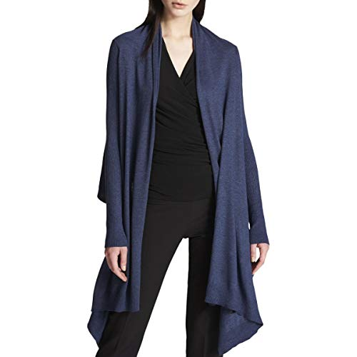 Cable Dkny - DKNY Womens Hi-Low Open Front Cardigan Sweater Navy M/L