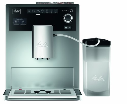 Melitta-E-970-101-silber-Kaffeevollautomat-Caffeo-CI-One-Touch-Funktion-LCD-Display-Milchbehlter-Cappuccinatore
