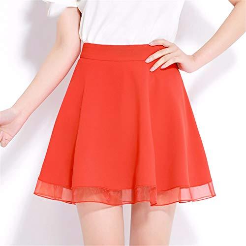 Taille Femme Haute Jupe Plisse Jupe rouge Courte Jupes Slim Tutu Jupe Parapluie JJNZD t0f1wW