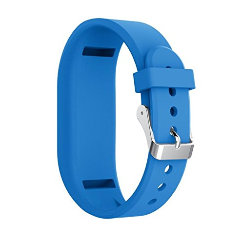 Owill Solid Colour Silicone Soft Fashion Replacement Strap Accessory Wristbands for Garmin Vivofit 3 (Sky Blue)