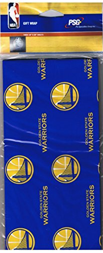 Golden Wrap (NBA Golden State Warriors Gift Wrap Wrapping)