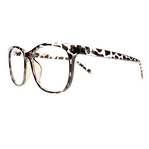 (Oversized Eyeglasses Square Large Lenses Stars Pattern Reading Glasses Readers (Leopard, 2.0))