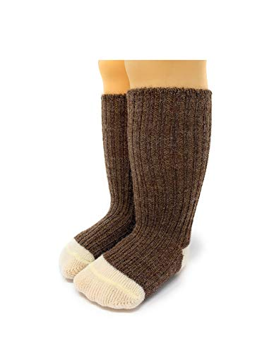Warrior Alpaca Socks - Baby Alpaca Dye-Free Baby Color Block SocksNEW (12/12-24mos, Heather/Natural)