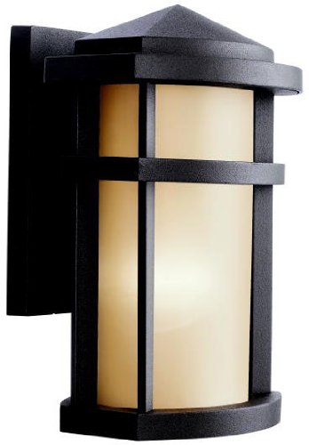 (Kichler 9166AZ Lantana Outdoor Wall 1-Light, Architectural Bronze)