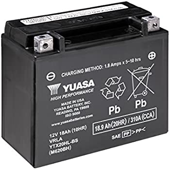 yuasa yuam320bs ytx20l bs battery automotive. Black Bedroom Furniture Sets. Home Design Ideas