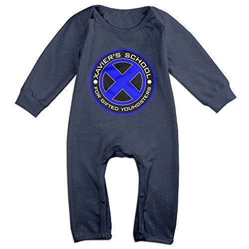 Xmen Suit (Newborn Boy Girls Infant X-Men Logo Jumpsuit Bodysuit Clothes)