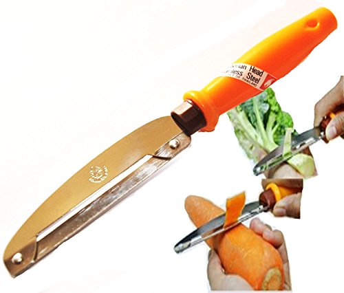 Homesure Knife Slicer Peelers Vegetable Chef Housewife Tool Lightweight Potato Mango HouseHold Carrot Restaurants House Tool Easy Clean protect the blade from rust Original By Homesure (Meat Axe Flag)