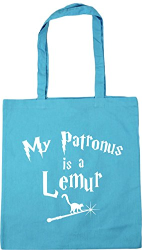 litres Patronus My 10 Is 42cm Beach Tote Surf Gym Bag Shopping HippoWarehouse Blue A Lemur x38cm CR5Og