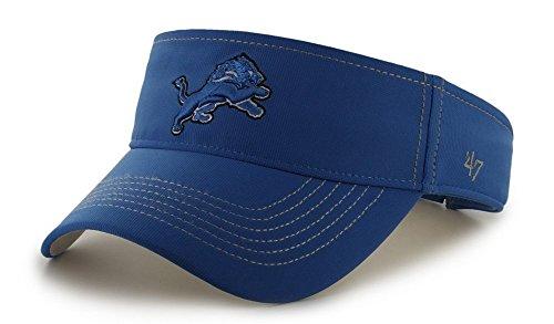 NFL Detroit Lions '47 Brand Defiance Adjustable Visor, Blue Raz, One Size